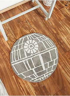 Bring some intergalactic style to your bathroom   Star Wars Death Star Tufted Bath Rug