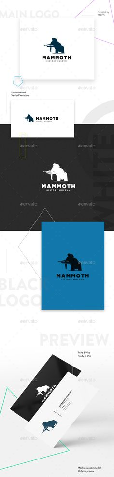 Mammoth Logo - Animals Logo Templates Download here : https://graphicriver.net/item/mammoth-logo/19257731?s_rank=44&ref=Al-fatih