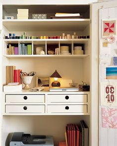 Closet office, organization inspriation