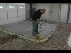 Most informative video so far! How to acid stain concrete. Makes it look super easy and we watch him do it from start to finish.