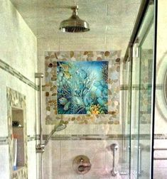 Tile Murals For Shower Astound Mesmerizing Bathroom A Favorite Custom Mural Interior Design 32