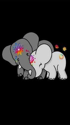 Cute Disney Wallpaper, Wallpaper Iphone Cute, Cartoon Wallpaper, Elephant Wallpaper, Elephant Artwork, Elephant Spirit Animal, Elephant Love, Animal Drawings, Cute Drawings