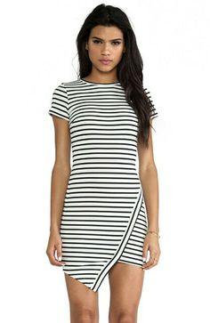 f0e2f9e40ed4 Shop for BEC BRIDGE Elements Sleeveless Dress in White Stripe at REVOLVE.