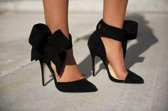 Black Bow Heels - HeelsFans.com
