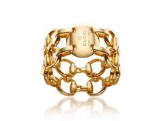 Gucci Gold Open Horsebit Band #DSW #Luxe810
