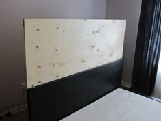 Domestic Restylings: an upholstered headboard for the MALM bedframe