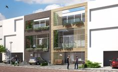 """urban villa"" for IJburg Blok 59 in Amsterdam, designed by 8A Architecten, Rotterdam"