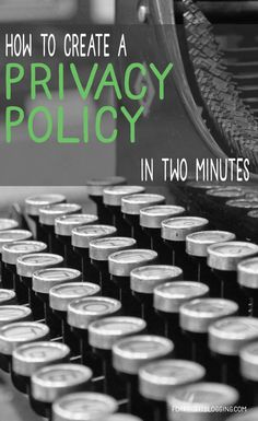 Privacy Policy + Terms of Service: Don't Blog Without Them!