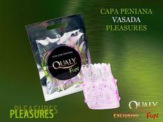+18 Capa Peniana Vazada Qualy Fun Pleasures Produto feito em silicone gel, textura externa massageadora que garante um clímax mais vibrante e intenso para o casal. www.charnel.com.br