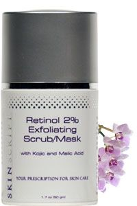This scrub is a powerful cellular turnover scrub with Retinol (Vitamin A) and jojoba beads to clean, soothe and polish the skin. The retinol encourages the breakup of blackheads and clogged pores, jojoba beads gently exfoliate dead skin cells, while kojic lightens age spots and blemishes left from scars.