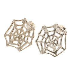 Ikuria - diamond web earrings