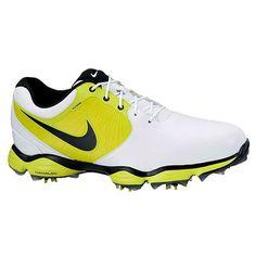Nike Men's Lunar Control II White/ Slime/ Golf Shoes
