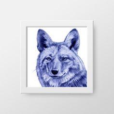 WILD COYOTE/ artiste: Sarah Esteje alias Abadidabou/ sur le site-shop œuvres originales à partir de 300€ et tirages signés à 30€