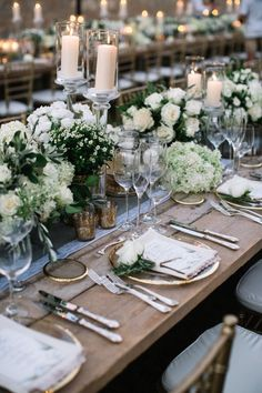 Greenery wedding table decor: Event Planning: The Tuscan Wedding - http://www.stylemepretty.com/portfolio/the-tuscan-wedding Floral Design: Tuscany Flowers - http://www.stylemepretty.com/portfolio/tuscany-flowers Reception Venue: Casali Di Bibbiano - http://www.stylemepretty.com/portfolio/casali-di-bibbiano- Read More on SMP: http://www.stylemepretty.com/destination-weddings/italy-weddings/2016/01/26/classic-romantic-destination-wedding-in-tuscany/