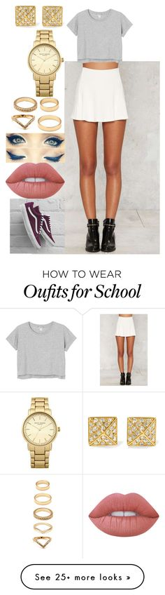 """369"" by rhay-q on Polyvore featuring Monki, Lime Crime, Forever 21, Anita Ko, Topshop and Vans"