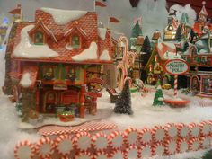 Peppermint Walls of the Department 56 North Pole Village by SC Christmas Store, via Flickr