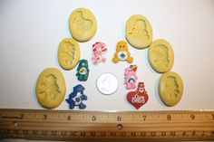Care Bears Silicone Mold Candy Chocolate Fondant by angelcakesetc2