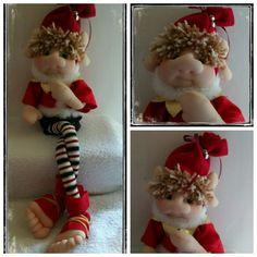 Resultado de imagen para duende tela Sewing Dolls, Elf On The Shelf, Holiday Decor, Diy, Home Decor, Google, Dolls, Craft, Molde