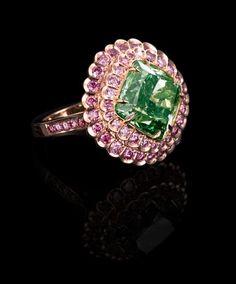 Largest & extremely rare fancy intense 8.61 carat green diamond ring #followprettypearlsinc