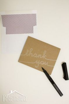 DIY Thank You Cards with Silhouette Sketch Pens | Practically Functional