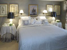 The tranquil blue room at York House, luxury bed and breakfast in the heart of the North Cotswolds.