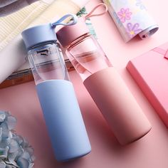 2017 New glass water bottle Leak-Proof Seal Large Capacity a Sport drinking water bottle My Bottles Cup Bicycle