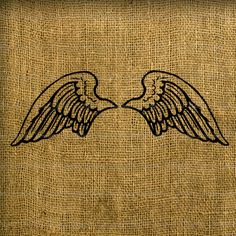 Small Angel Wings Digital Image Download for Fabric, Bags, Burlap, Totes, Pillows, Tea Towels No.204KM With PDF Instructions. £0.60, via Etsy.