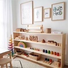 Can't stop staring at this set up! Perfectly organized! @earlychildfood #ministylekids