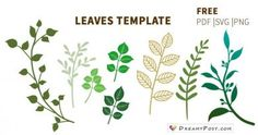 Leaves template, branch template, FREE PDF, SVG, PNG files I know leaves template is very important to all crafters who make paper flowers. So here is a collection of free leaves template and branch template. Free Paper Flower Templates, Paper Flower Patterns, Paper Flower Tutorial, Templates Free, Rose Tutorial, Applique Templates, Felt Patterns, Applique Patterns, Blogger Templates
