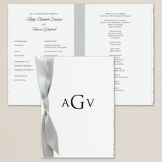 Delicate Deckle Wedding Program | Wedding Programs