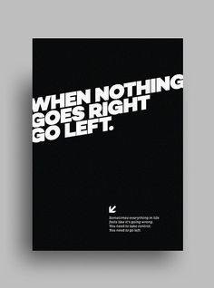 Striking, Minimalist, Black & White Posters Featuring Gorgeous Typography - DesignTAXI.com