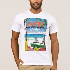 Shop La Paz Baja California Sur Mexico travel poster T-Shirt created by bartonleclaydesign. Personalize it with photos & text or purchase as is! Mexico Shirts, Travel Journal Pages, Baja California Sur, Big Ben London, Winter Travel Outfit, Travel Drawing, Travel Logo, Packing List For Travel, Travel Posters