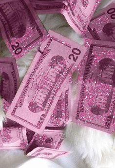 pink glitter money!