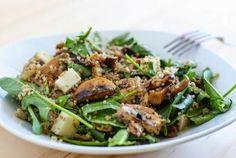 Ensalada de espinacas y quinoa