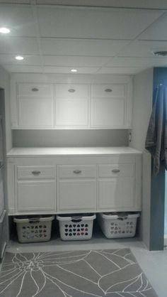 Laundry organizer and folding table we built