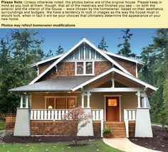 Arts & Crafts HOMES ♥ HOMES ♥ HOMES ♥ on Pinterest | 1094 Pins - Small Bungalow Classic Elevation