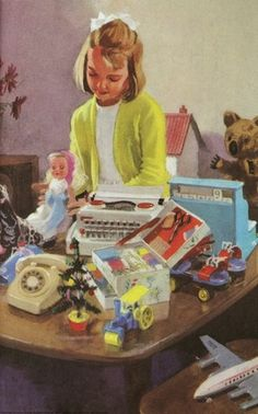 """Jane and Toys (from vintage English """"Ladybird"""" storybooks)"""