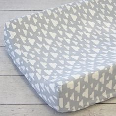 This adorable cloud changing pad cover would look cute on any changing table!