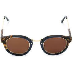 Retro Super Future Panamá Sunglasses ($247) ❤ liked on Polyvore featuring accessories, eyewear, sunglasses, blue, tortoiseshell sunglasses, tortoiseshell glasses, retrosuperfuture glasses, blue glasses and blue sunglasses