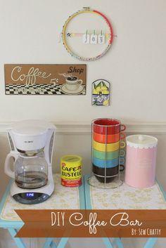 Sew Chatty: {DIY Coffee Bar...and DONUTS!}