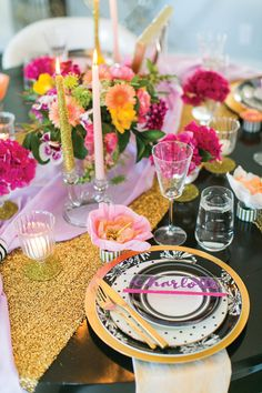 Pops of color, gold & Kate Spade — a match made in party heaven