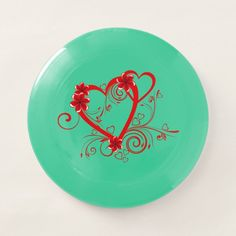 Beautiful Red Love Swirl heart Wham-O Frisbee - tap, personalize, buy right now! #WhamOFrisbee  #beautiful #red #love #swirl #heart