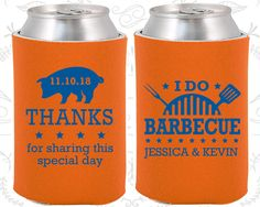 I Do BBQ Wedding Gift, Personalized Gift, Thanks for sharing this special day, Wedding BBQ Favors, BBQ Pig, Koozies  (70)