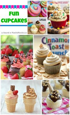This collection of fun cupcake recipes is sure to leave you smiling! So many creative ideas here for birthdays & other celebrations or just a fun treat.