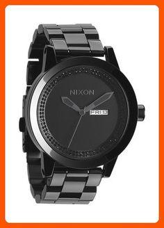 c59fc0568 NIXON Men's A263-150 Stainless Steel Analog Black Dial Watch - Mens world (*