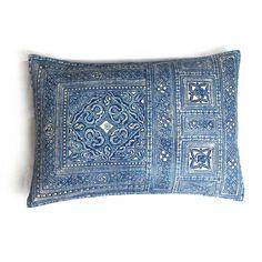 thai dye turtle pattern hemp cushion