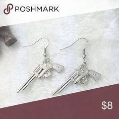 Gun Dangle Earrings New gun dangle silver earrings. Bundle and save. Jewelry Earrings