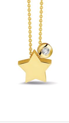 Tiny star pendant. The ashes are integrated in the back of the pendant. The zircon or diamond are optional. The pendant is available in silver or 14 kt gold.