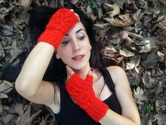 Red Crochet Gloves, Fingerless Red Gloves, Knitted Gloves, Hand Warmers, Handmade Gloves, Winter Gloves, Knitted Fingerless, Christmas gifts    100% 1st class. Quality Red ropes are used. These fingerless. Soft, comfortable glove. Elegant was built. Style Gloves. Over the flowers were committed. Learn to keep warm in winter. Relatives my brother, my friend. gift may be an alternative.  For best results, wash your hands cool and dry flat. Dry or iron, no bleach tumble.  Deliveries will then…