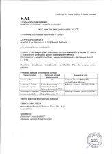 Declaratie de conformitate - Gresie portelanata KAI PROGRES CERAMICA